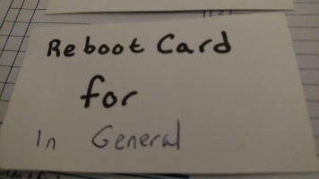 Front of General Card: Reboot Card for In General